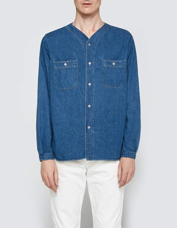 orSlow No Collar Work Shirt