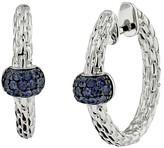 Effy Jewelry Effy 925 Classic Sterling Silver Blue Sapphire Earrings, 0.48 TCW