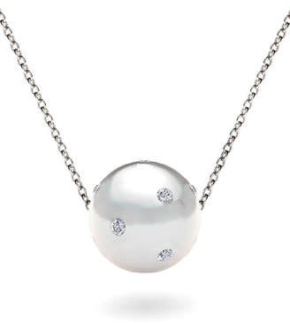 Bliss Women's Necklaces Silver - Imitation Pearl & Silvertone Crystal-Accent Pendant Necklace