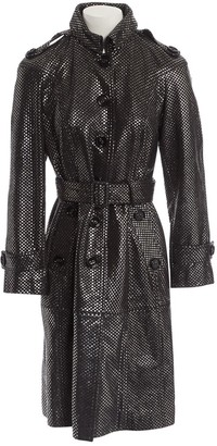 Burberry Silver Leather Coats