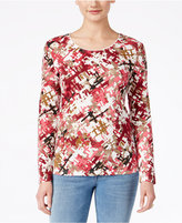 Karen Scott Long-Sleeve Top, Only at Macy's