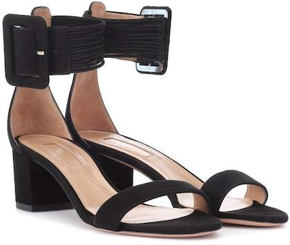 Aquazzura Casablanca 50 suede sandals