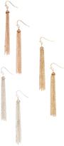 Carole Tri-Tone Tassel Earrings Set