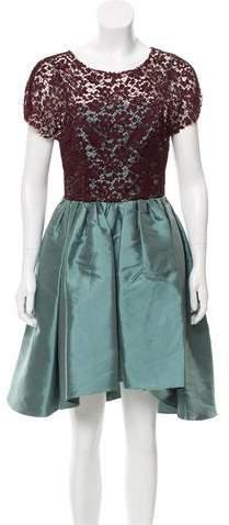 Dolce & Gabbana Lace-Paneled A-Line Dress