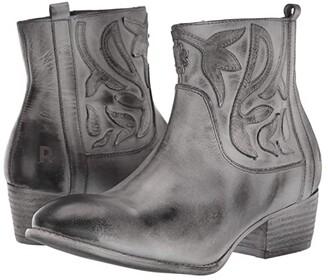 ROAN Elsia (Black/White Burnished Finish) Women's Boots