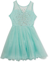 Rare Editions Embellished Mesh Dress, Big Girls (7-16)