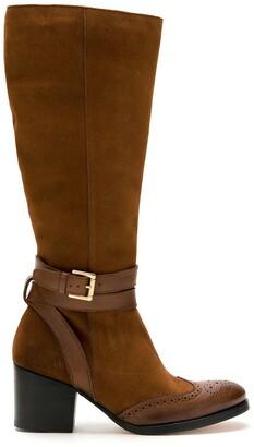 Sarah Chofakian Excess block heel tall boots