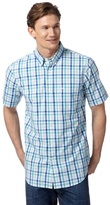Dockers Blue Gingham Checked Shirt