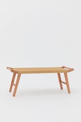 H&M Straw-seat bench