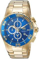 Technomarine Men's Gold-Tone Steel Bracelet & Case Quartz Dial Analog Watch 215045