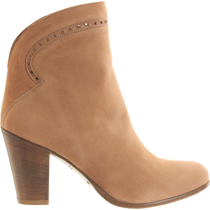 Sartore Perforated Topline Ankle Boot