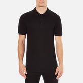 Versace Men's Shoulder Detail Polo Shirt Nero