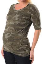 A Pea in the Pod Splendid 3/4 Sleeve Scoop Neck Dolman Sleeve Maternity T Shirt