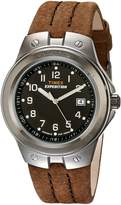 Timex Men's T49631 Expedition Metal Tech Brown Leather Strap Watch
