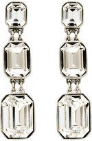 Three Crystal Drop Earrings