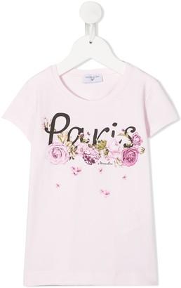 MonnaLisa floral logo T-shirt