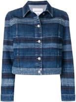 Sonia Rykiel washed striped denim jacket