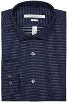 Perry Ellis Slim Fit Tiny Cross Dobby Dress Shirt