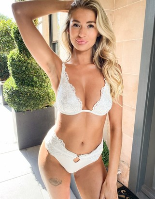 Ann Summers lace high waist bikini bottom in white