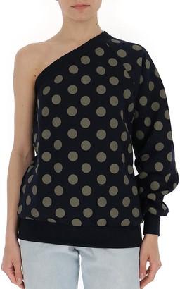Max Mara One Sleeve Polka Dot Sweatshirt