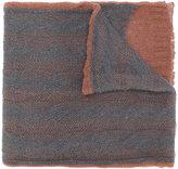 Maison Margiela bicolour loose knit scarf