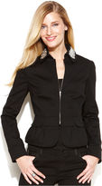 INC International Concepts Embellished Peplum Jacket