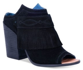 Dingo Women's Shaker Leather Peep Toe Bootie Women's Shoes