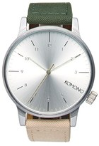 Komono Men's 'Winston Heritage' Multitoned Canvas Strap Watch, 41Mm