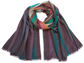 Paul Smith Men's Signature Stripe Wool Dip Dye Scarf Multi
