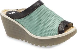 Fly London Yeno Wedge Slide Sandal
