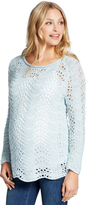 Motherhood Jessica Simpson Uneven Hem Maternity Sweater