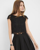 White House Black Market Lace Crop Bodice Top