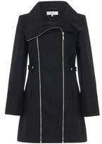 Anastasia Beverly Hills Black Double Zip Winter Winter Coat black