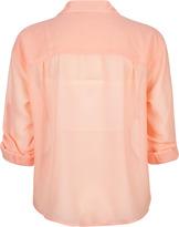 ALI & KRIS Double Pocket Womens Chiffon Shirt