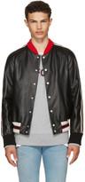 Gucci Black Leather hollywood Bomber Jacket