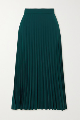 MM6 MAISON MARGIELA Pleated Crepe Midi Skirt - Green