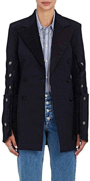 Y/Project Women's Stretch-Wool Double-Breasted Suit Jacket/Dress