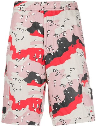 Stone Island Bermuda Abstract Print Shorts