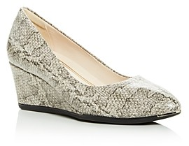 Cole Haan Women's Grand Ambition Snake-Embossed Wedge Pumps