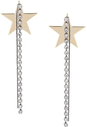 Venna Fringe Drop Star Stud Earrings