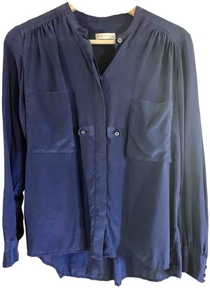 Whistles Navy Silk Top for Women