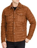 Polo Ralph Lauren Suede Down Quilted Jacket