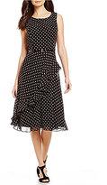 Jessica Howard Belted Polka-Dot Dress