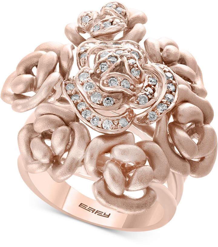 Effy Diamond Bouquet Ring (1/3 ct. t.w.) in 14k Rose Gold