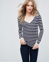 French Connection Cass Stripey V-Neck Jumper