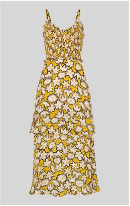 Whistles Nyla Floral Print Silk Dress