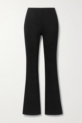 Anine Bing - Dakota Stretch-twill Bootcut Pants - Black