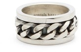 Emanuele Bicocchi Curb-chain Sterling-silver Ring - Mens - Silver