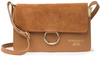 Persaman New York Engraciaa Leather Shoulder Bag