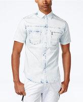 Sean John Men's Bleached Out Stretch Shirt